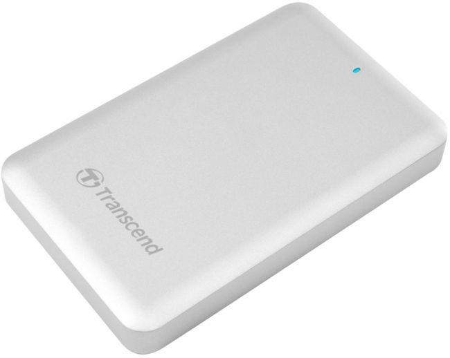 """TRANSCEND 2TB StoreJet 300, Thunderbolt, USB 3.0, 2.5"""" Externí hard disk, stříbrný - TS2TSJM300"""