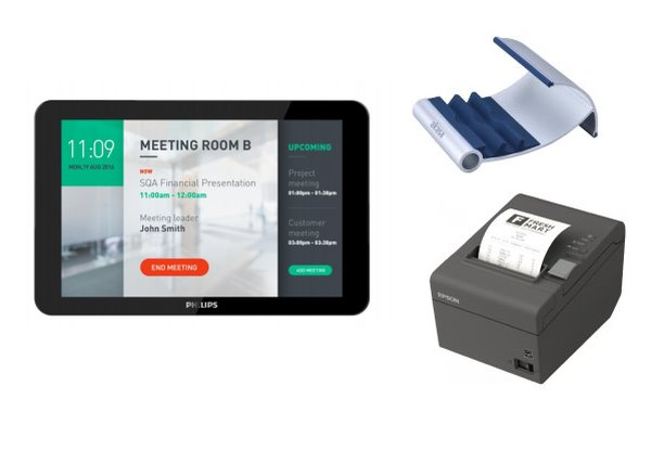 "EET tablet Philips tablet 10"" pro provoz 24/7 + tiskárna EPSON +  stojánek AKASA -"